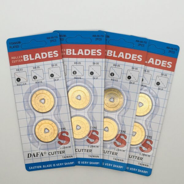 Titanium Nitride 28mm Rotary Blades