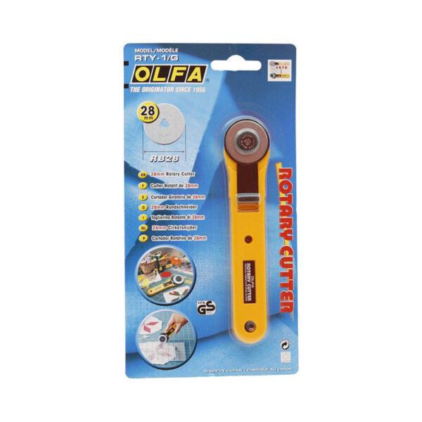 Straight Handle Olfa Rotary Cutter 28mm