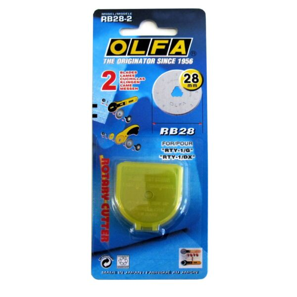 OLFA 28mm Replacement Blades 2 Pack + Safety Case