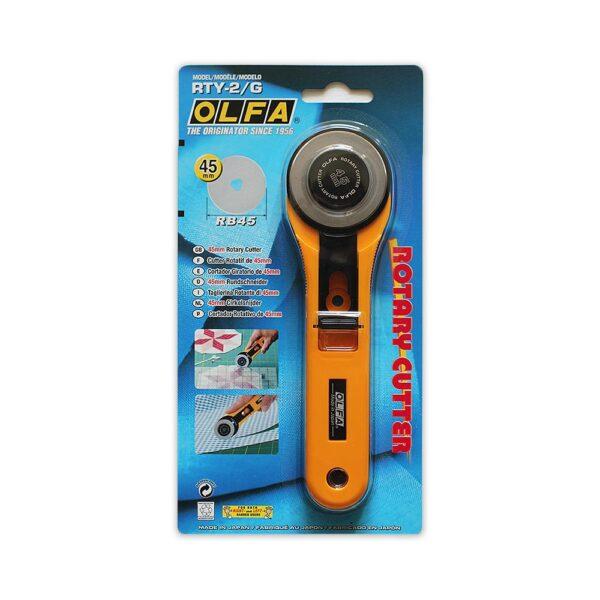 Straight Handle Olfa Rotary Cutter 45mm